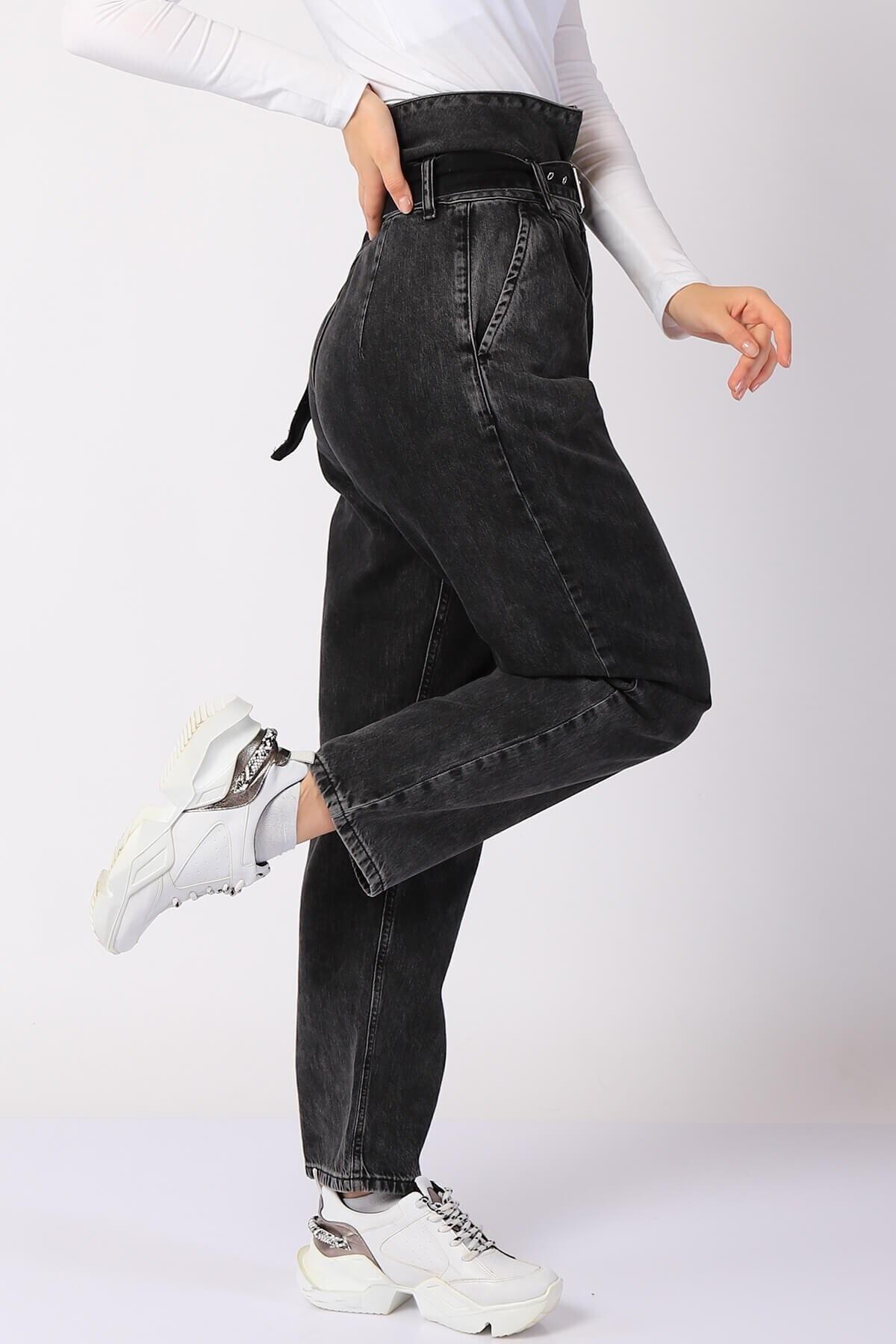 Twister Jeans Kadın Pantolon Bp 9377-02 Sıyah 2