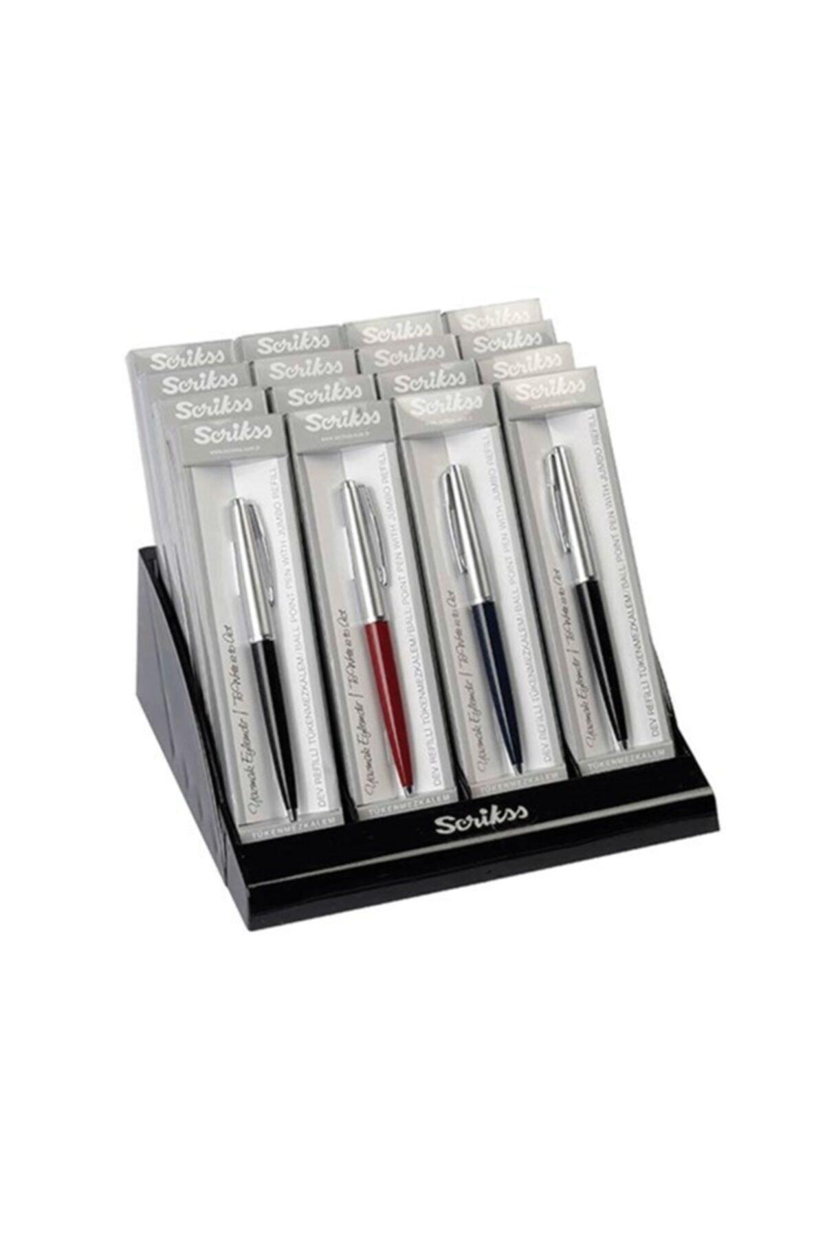 Scrikss 78 Tükenmez Kalem ( 16 Lı Stand ) 1