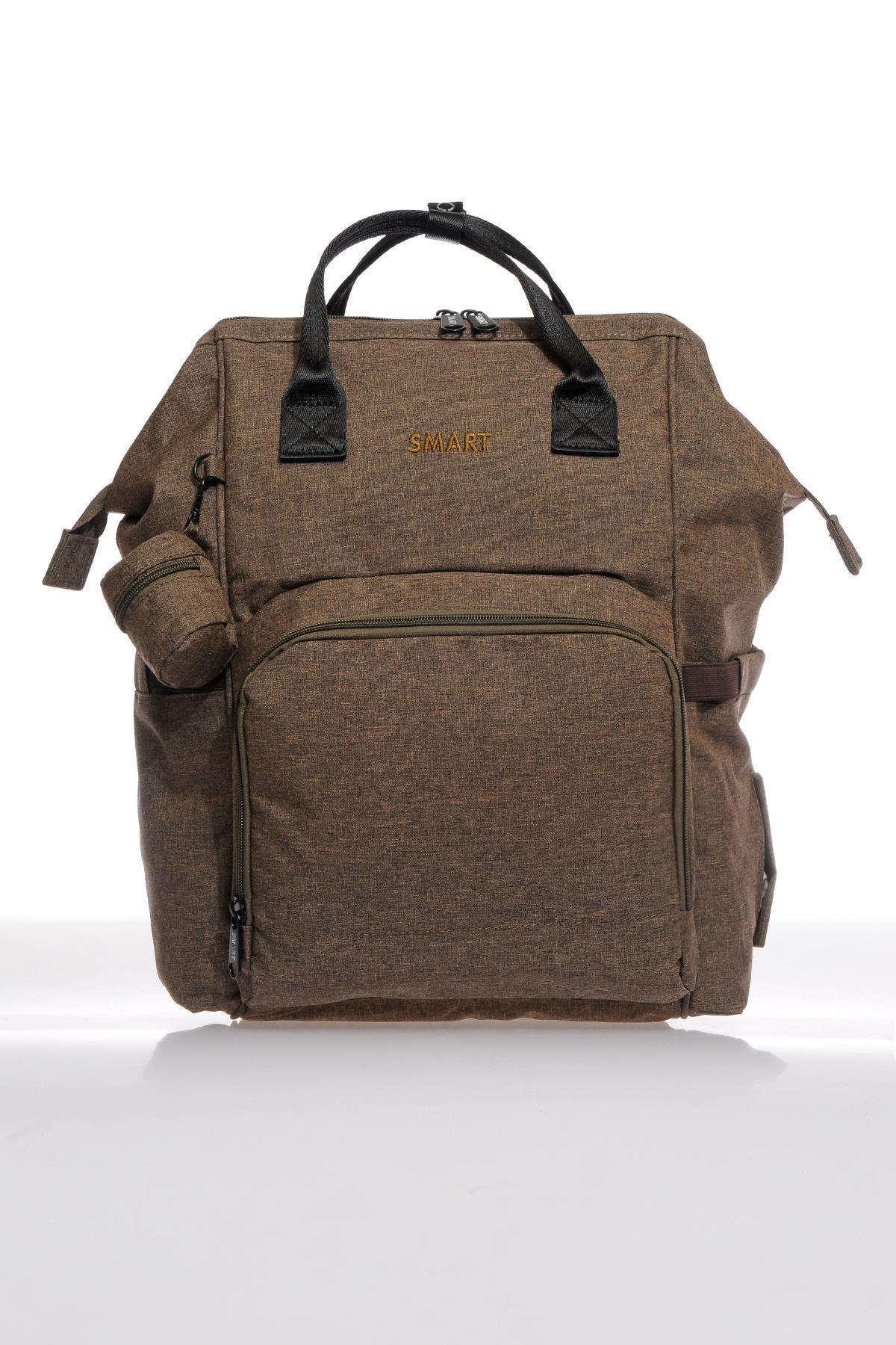 SMART BAGS Smb2007-0006 Kahverengi Kadın Bebek Bakım Sırt Çantası 1