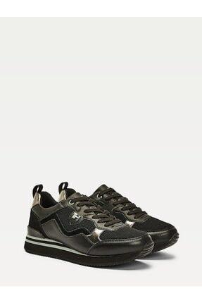 Tommy Hilfiger Kadın Siyah Sneaker Femınıne Actıve Cıty Sneaker FW0FW05010