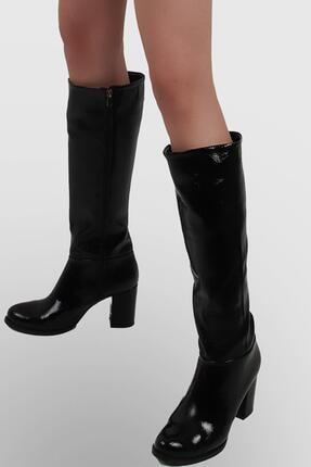 Pierre Cardin Kadın Flok Çizme, Parlak Siyah (Pc-50771-430)