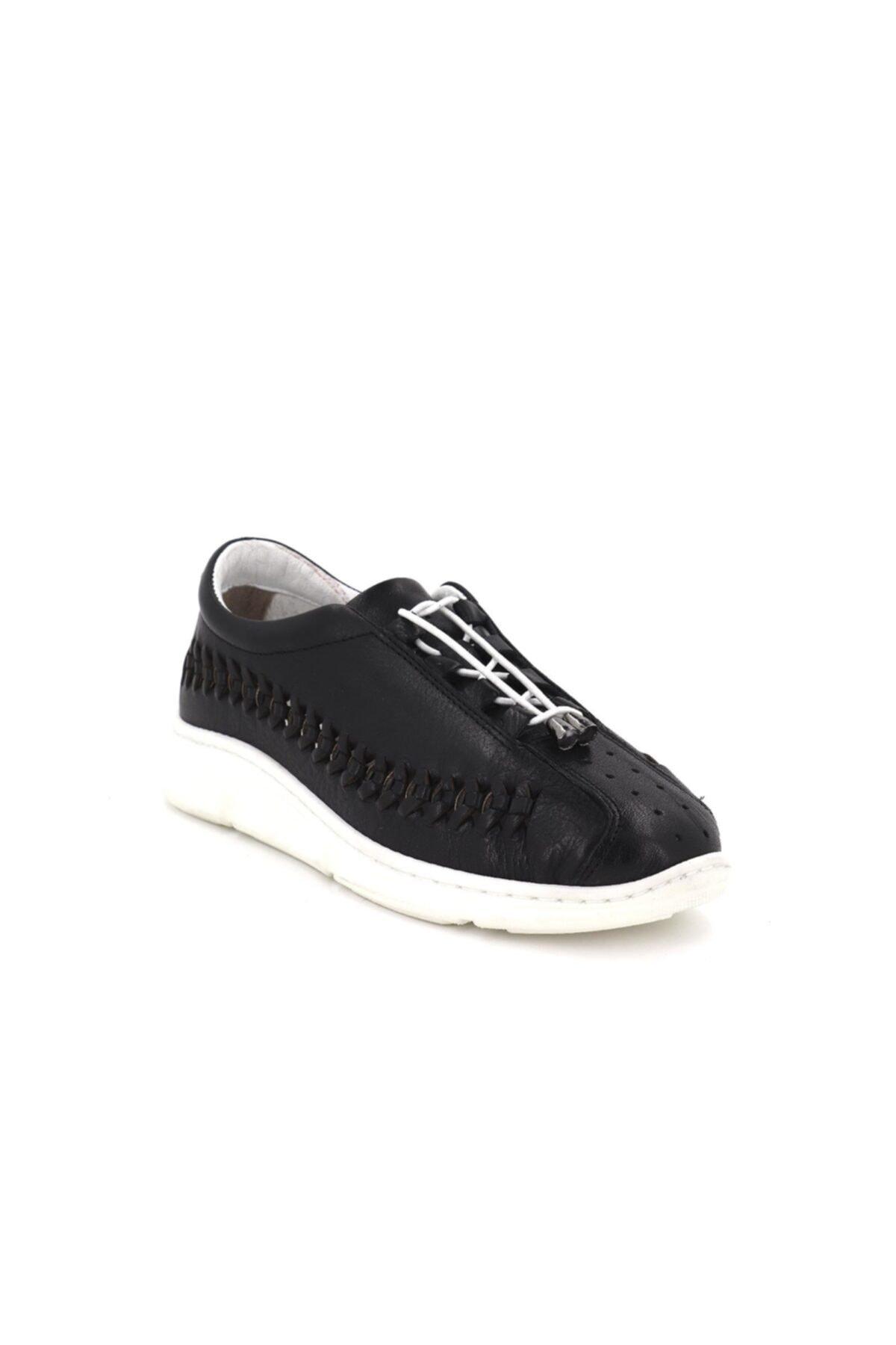Hobby Divadonna Siyah Ortopedik Kadın Günlük Ayakkabı Dd2229 2