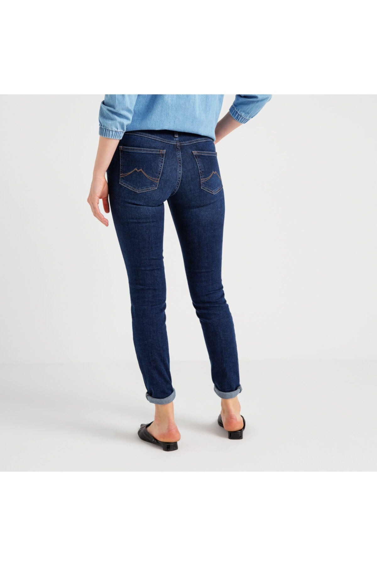 Mustang Jasmın Jeggıns Kadın Jean Pantolon Lacivert 2
