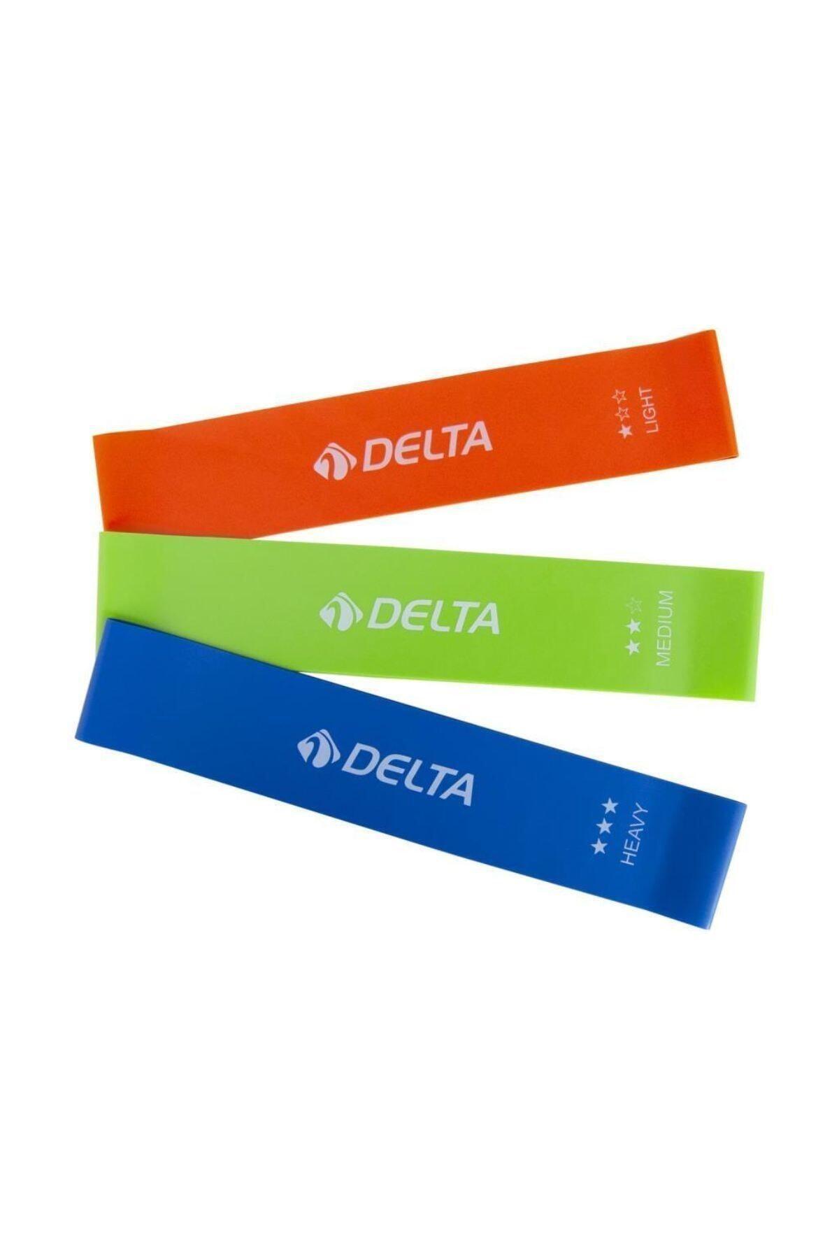 Delta Als980 3'lü Aerobik Bandı Lateks Bant Pilates Lastiği Seti 2