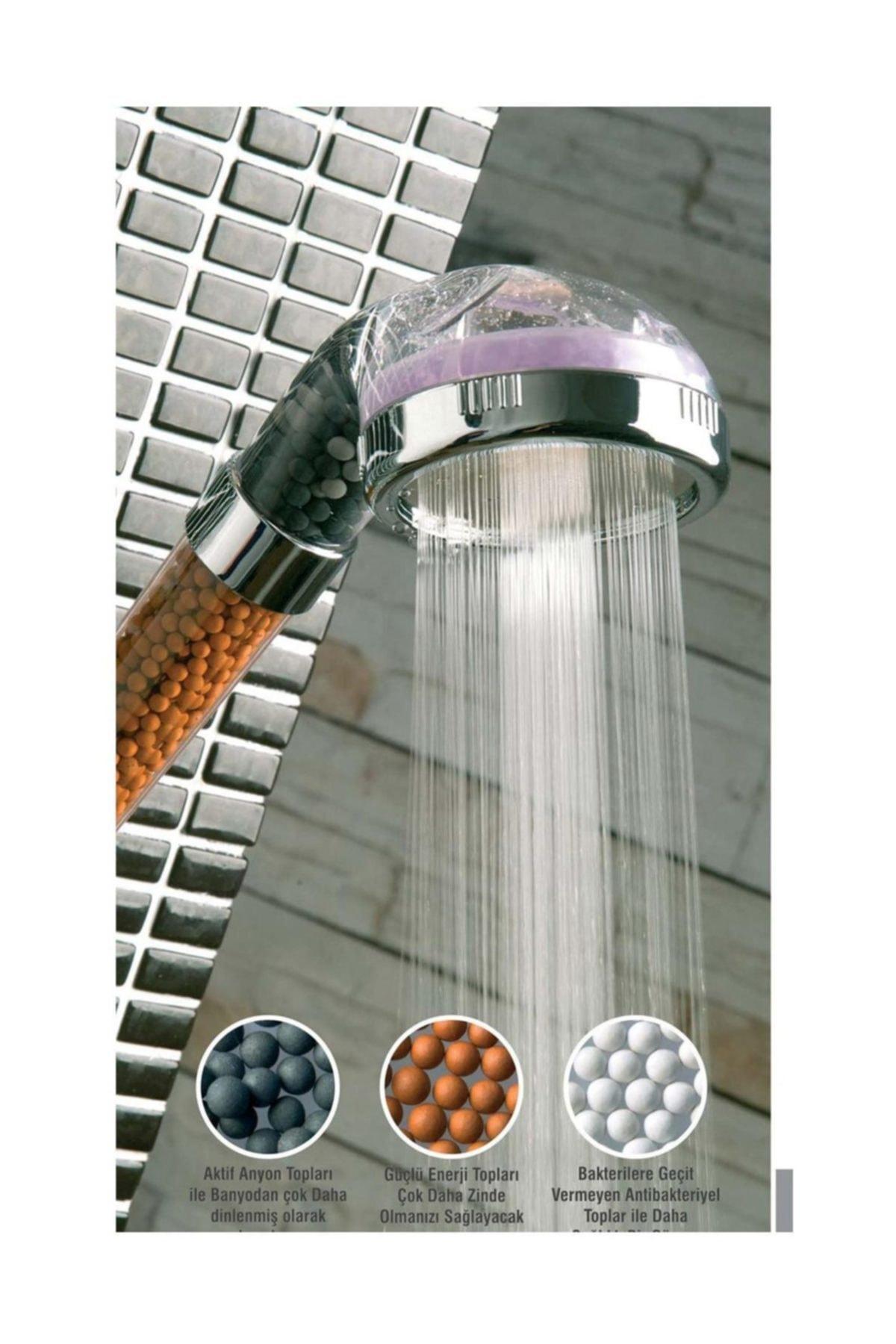 Buffer %50 Su Tasarruflu Ve Arıtmalı Doğal Taşlı Banyo El Duş Başlığı 1