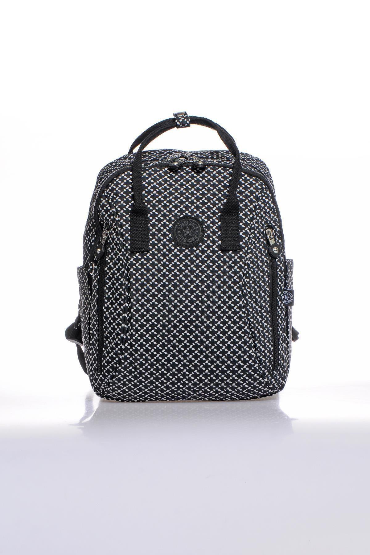 SMART BAGS Smb1220-0127 Siyah/beyaz Kadın Sırt Çantası 1