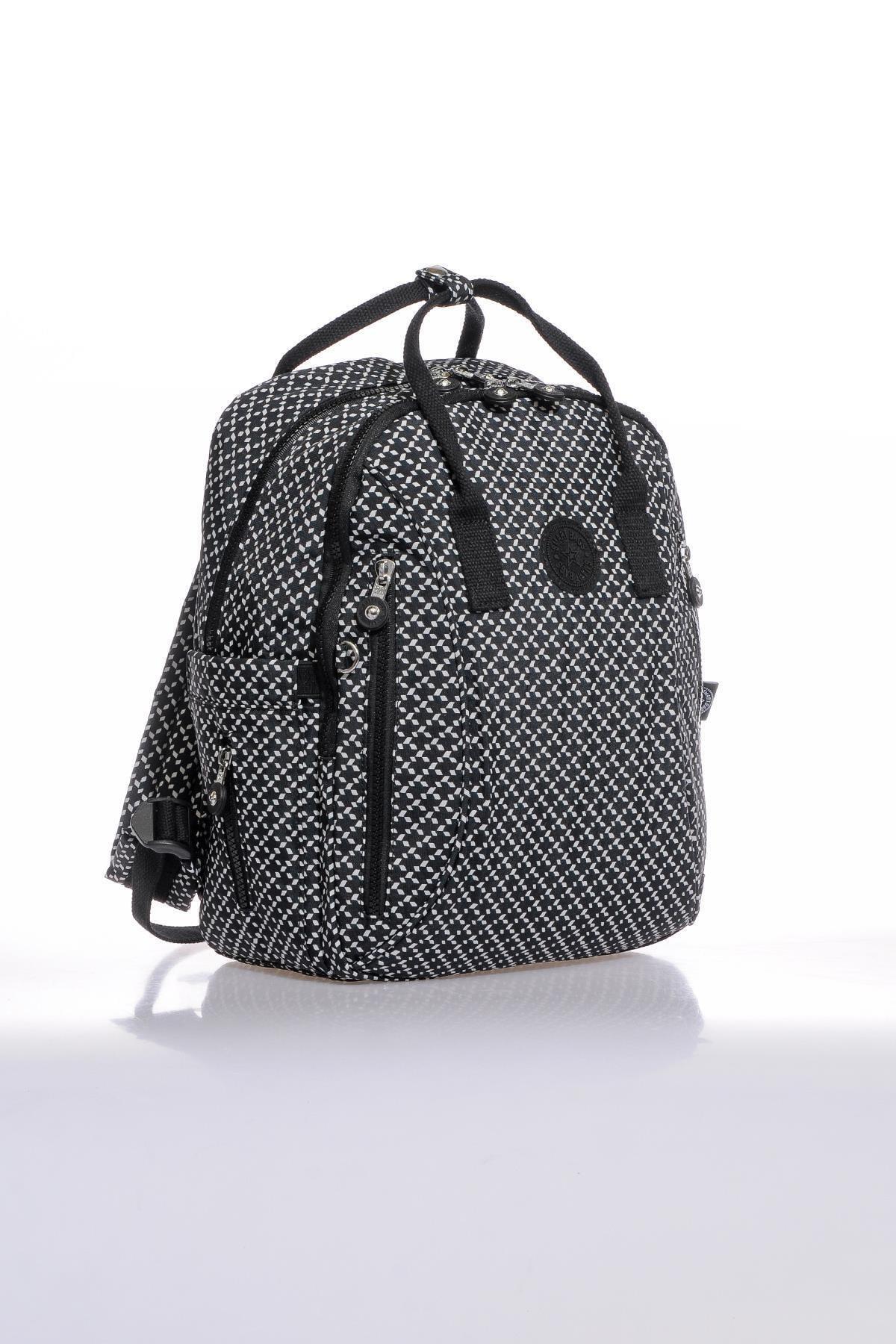 SMART BAGS Smb1220-0127 Siyah/beyaz Kadın Sırt Çantası 2