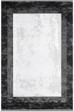 Pierre Cardin Halı Monet Mt39b Siyah Beyaz Çerçeveli Doğal Iplik Halı