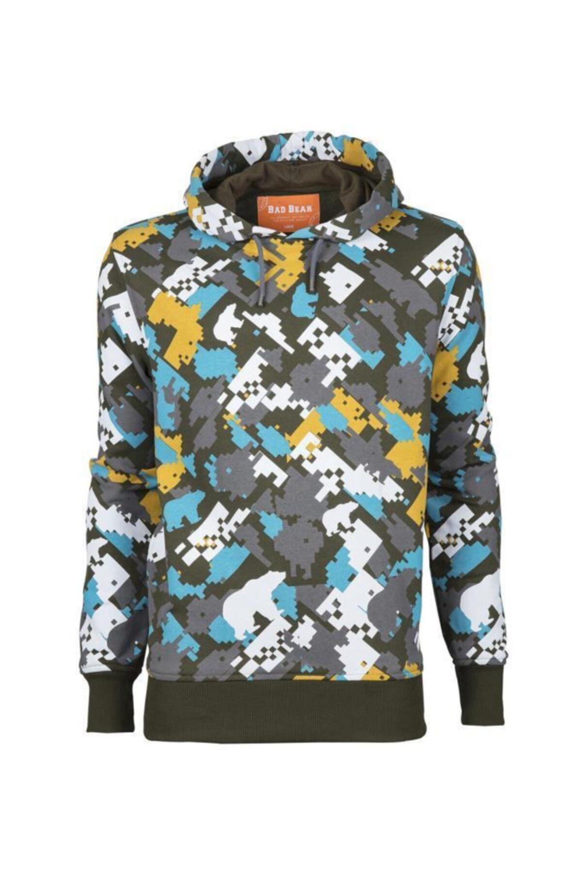 Bad Bear Erkek Sweatshirt Dıgı Camo Hoodıe 1