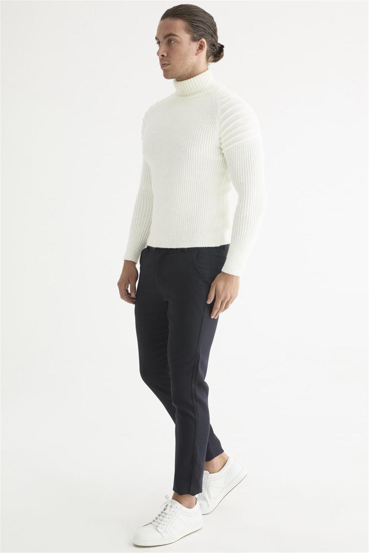 Efor Atp 016 Slim Fit Lacivert Spor Pantolon 2
