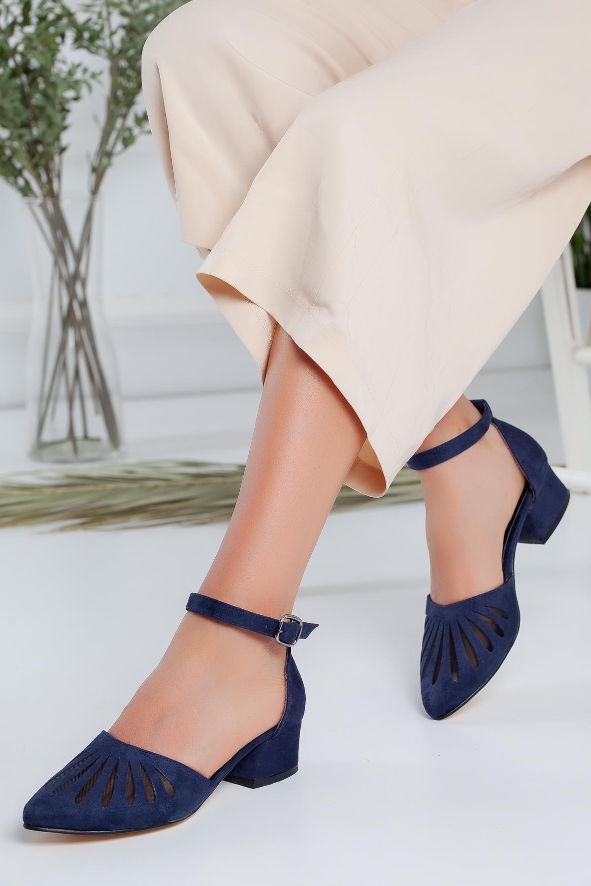 Moda Eleysa Chica Süet Topuklu Ayakkabı 1