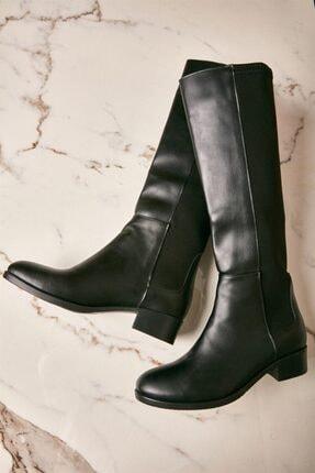 Bambi Siyah Kadın Çizme K0744082009