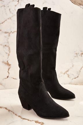 Bambi Siyah Kadın Çizme K06390310