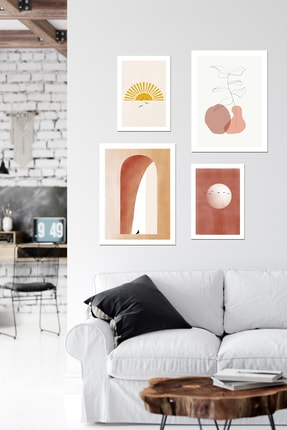 DUWART Premium Çerçevesiz Poster|favourite 4'lü Poster Set|21x30 Ve 30x40 Cm|yatak Odası Salon Tablo