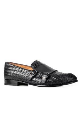 Cabani 14106 Kösele Enj. Meşin Astar Ayakkabı-siyah Antik