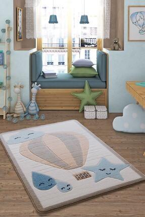 Confetti Mavi Cloudy Oymalı Çocuk Bebek Odası Halısı 133x190