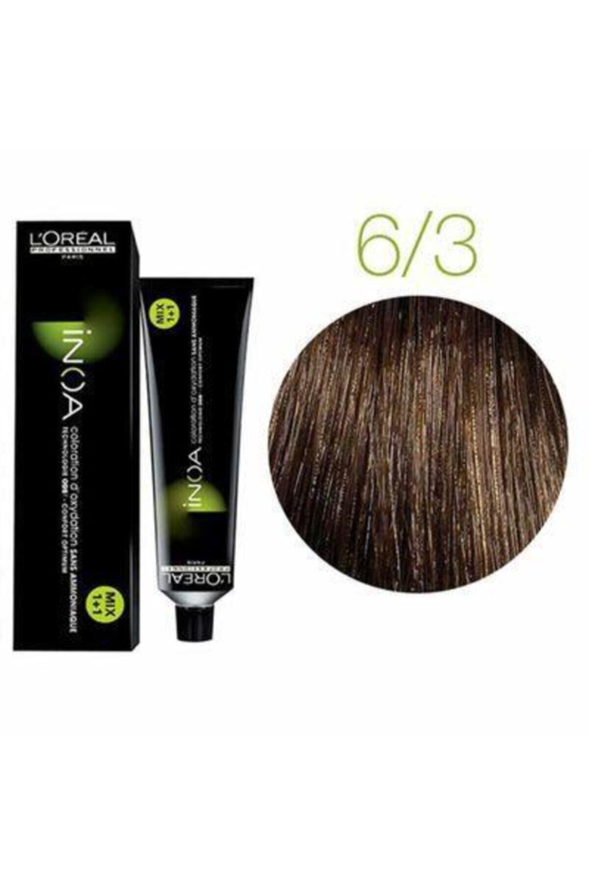 İNOA 6,3 Koyu Kumral Dore Saç Boyası 1
