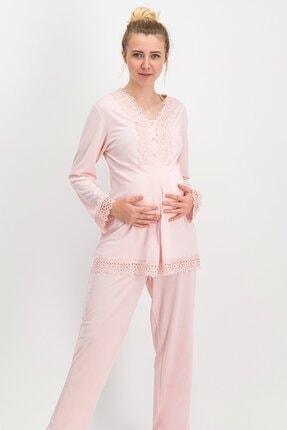 Arnetta Queen Mommy Ekru Kadın Lohusa Pijama Takımı Ar-492-s