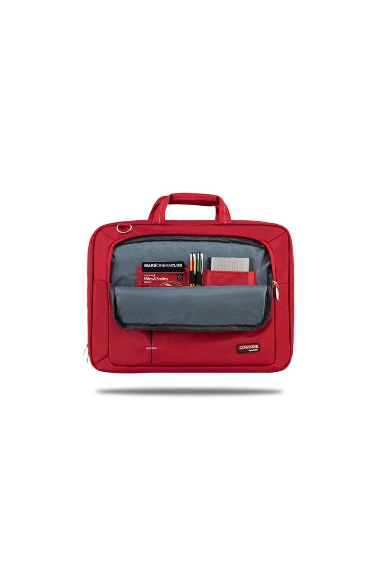 Classone Kırmızı Ul162 15,6 Inç Uyumlu Laptop Notebook El Çantası 2