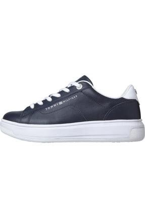 Tommy Hilfiger Kadın Mavi Sneaker Deri Tommy Hılfıger Cupsole FW0FW05009