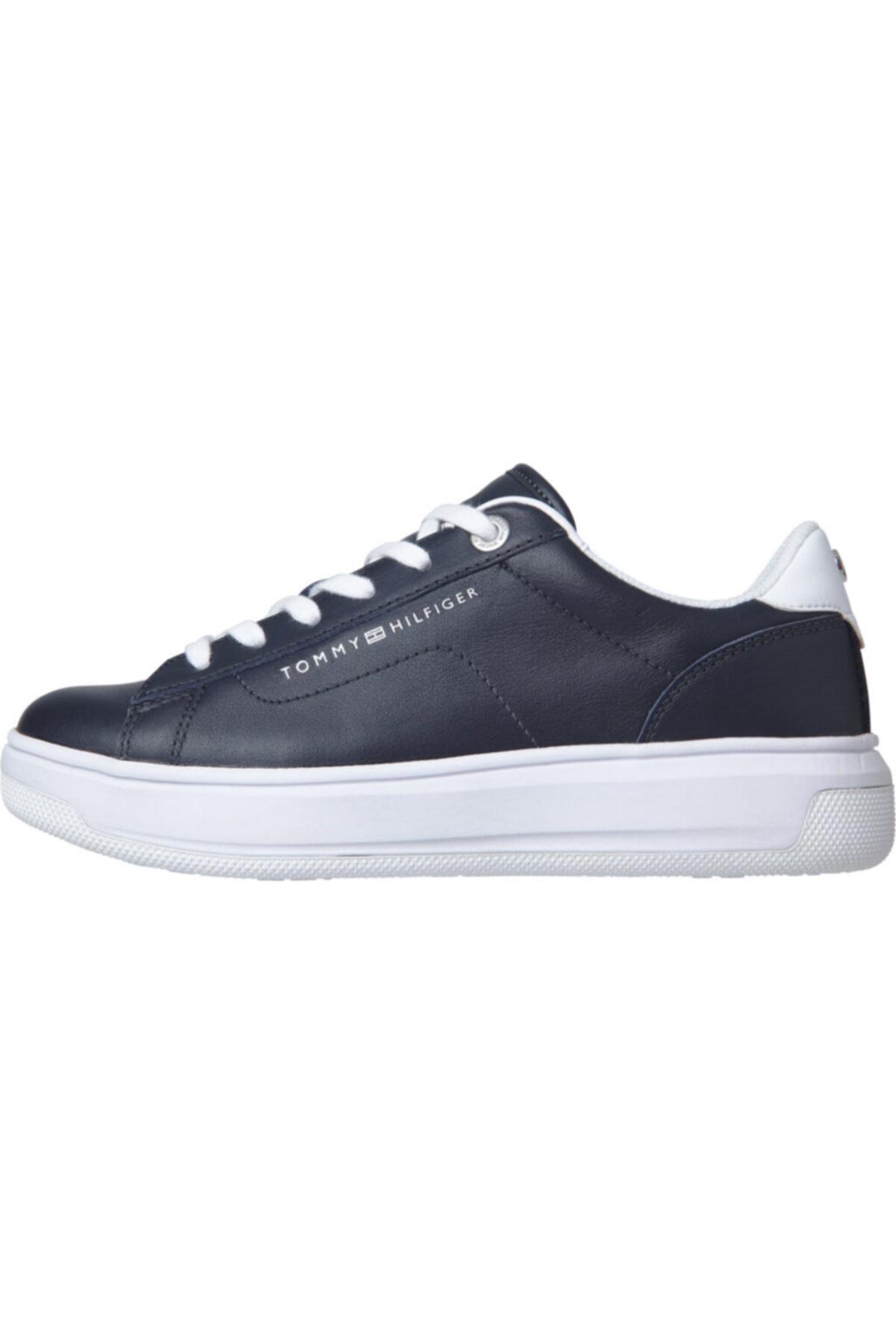 Tommy Hilfiger Kadın Th Cupsole Deri Sneaker 1