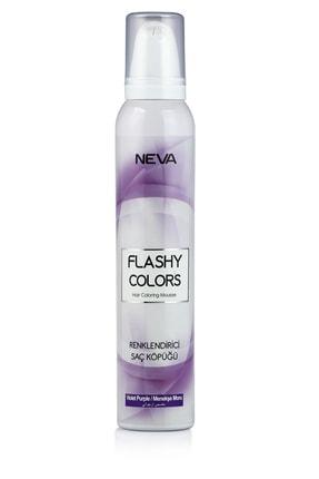 Flashy Colors Geçici Köpük Saç Boyası - Menekşe Mor