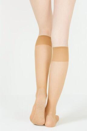Penti Konfor 15 Denye Pamuk Taban Yarı Parlak Dizaltı Çorap 12'lı