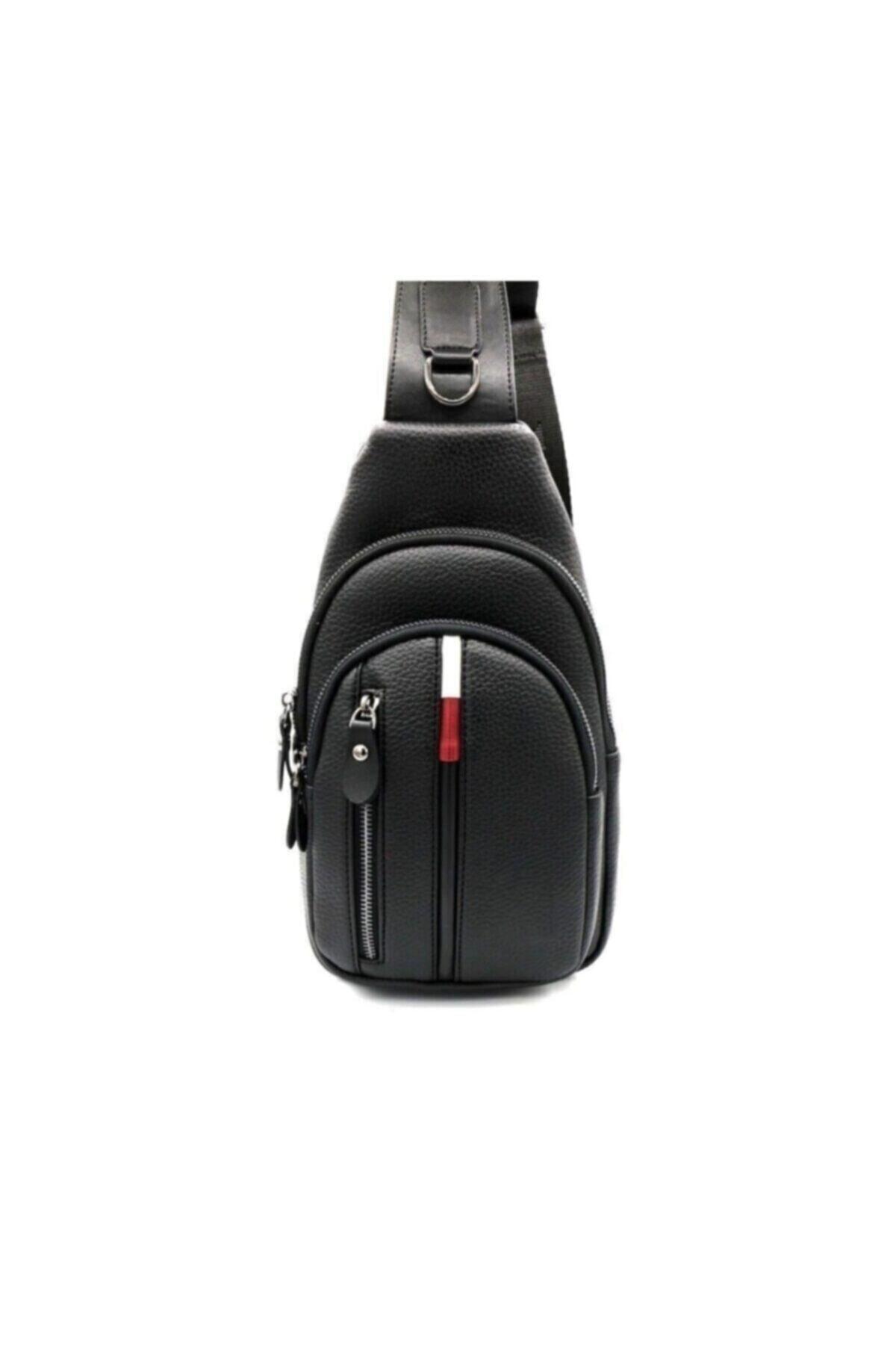 Newish Polo Unisex Siyah Çapraz Göğüs Ve Omuz Çantası Body Bag 1