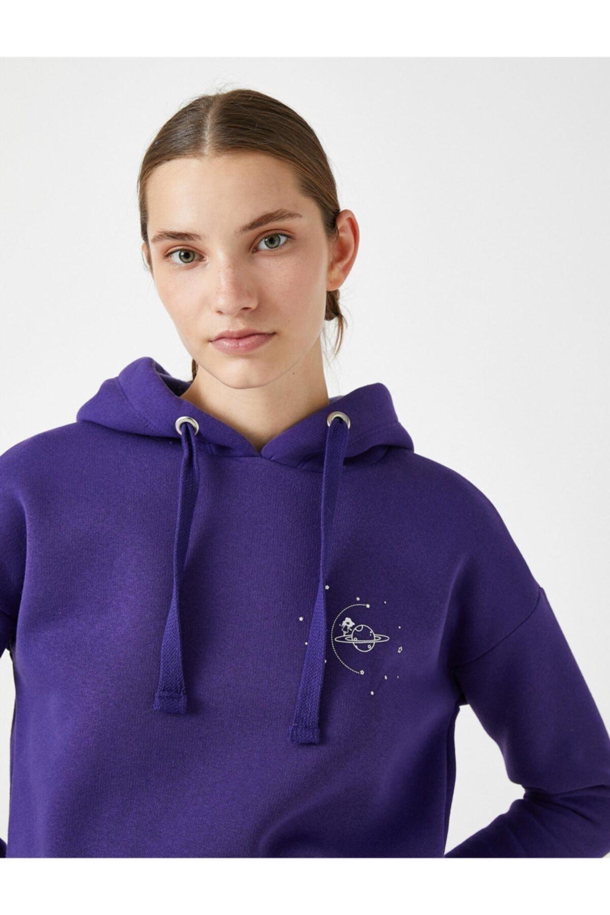 Koton Kapüşonlu Baskılı Sweatshirt 1