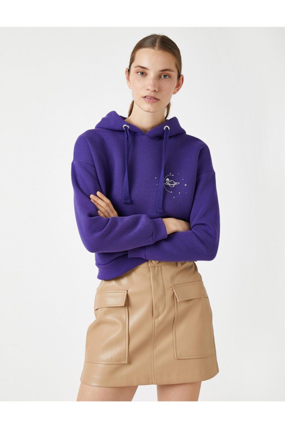 Koton Kapüşonlu Baskılı Sweatshirt 2