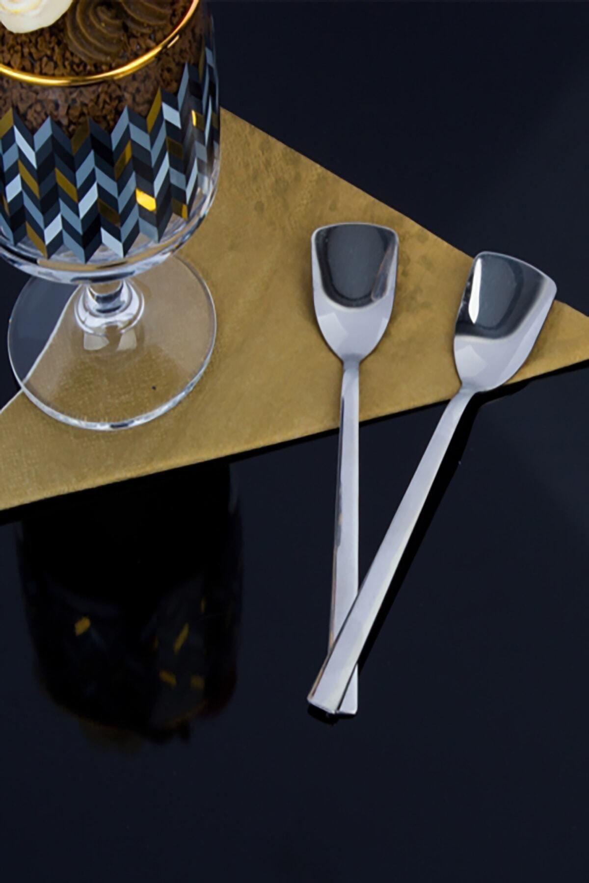 Kitchen Chef Paslanmaz Çelik 6'lı Lüx Dondurma Kaşığı 2