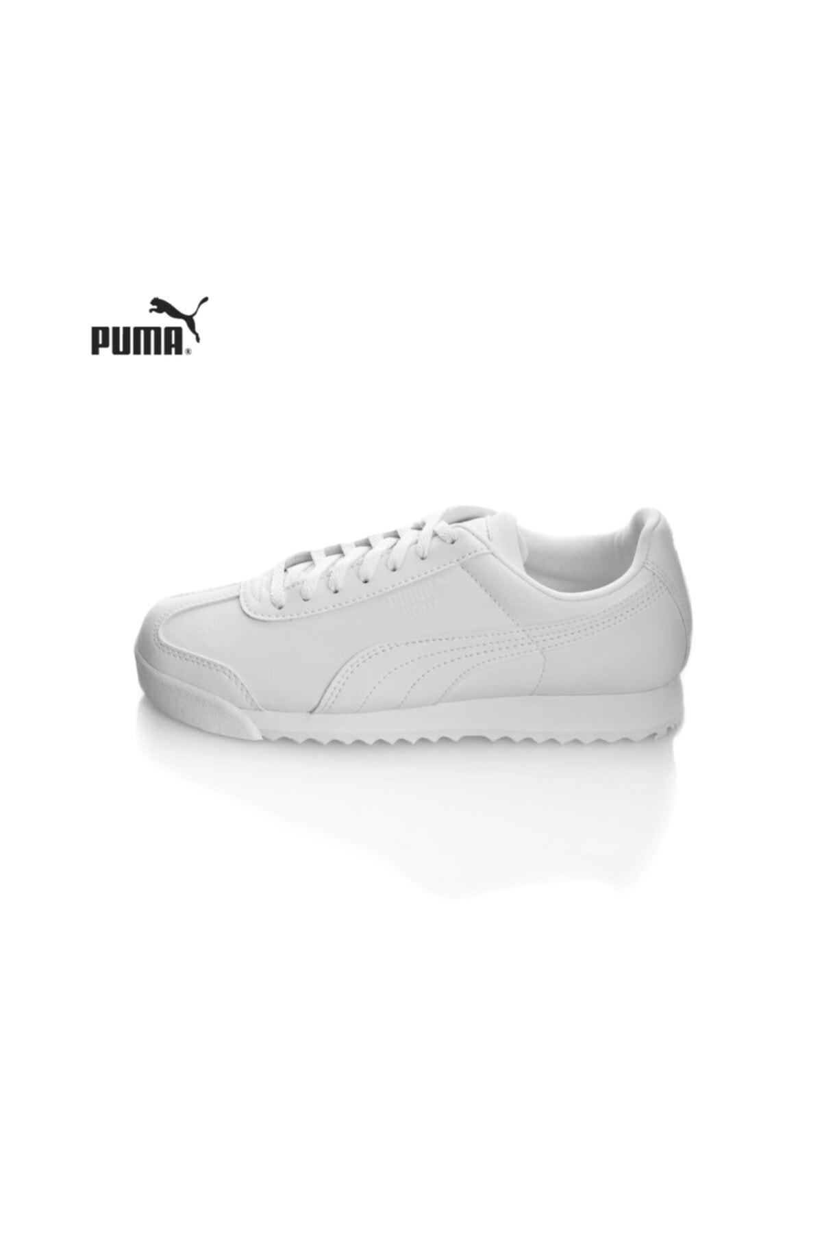 Puma Beyaz Erkek Spor Ayakkabı 354259141 Roma Basıc Jr Whıte-lıght Gray 2