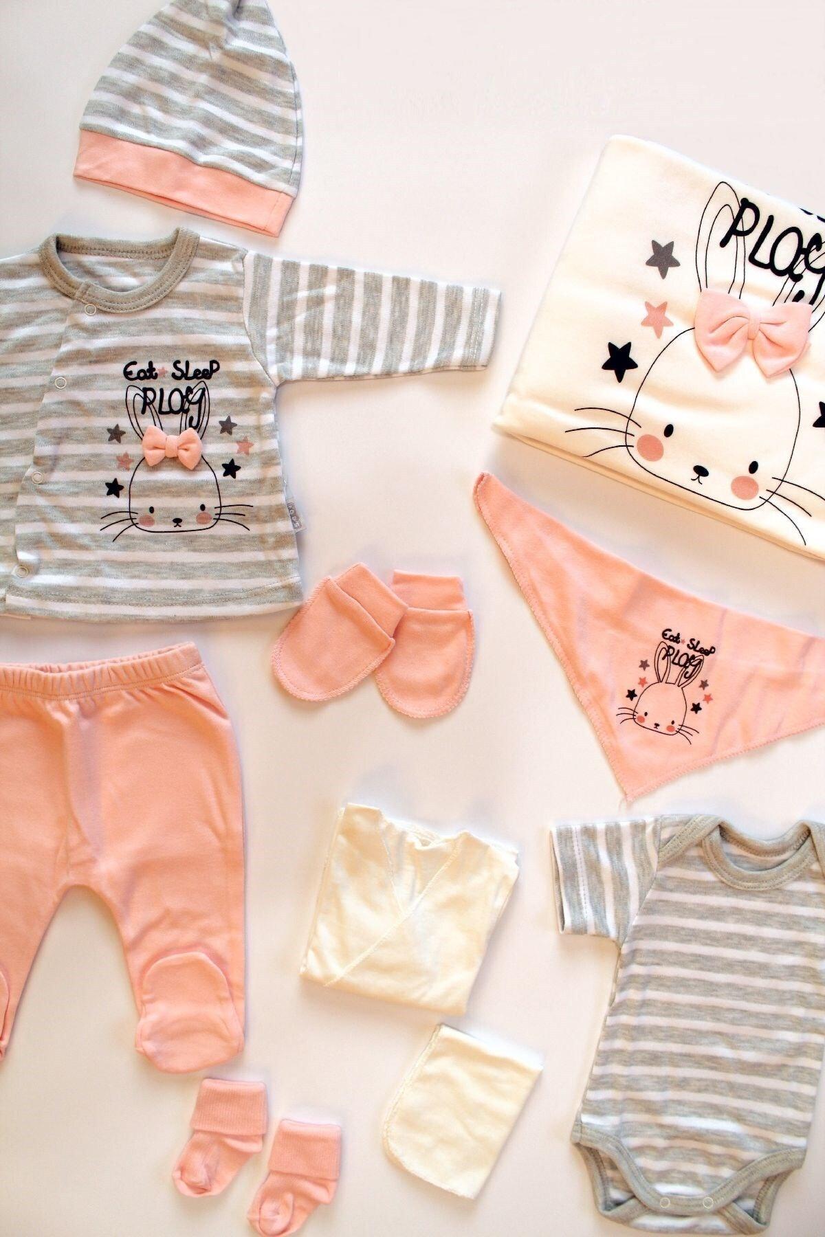 Sebi Bebe Sebi 9160 Tavşanlı Kız Bebek 10'lu Hastane Çıkış Seti 1