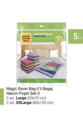 Magic Saver Bag 5´li Bagaj Vakumlu Poşet Seti 3