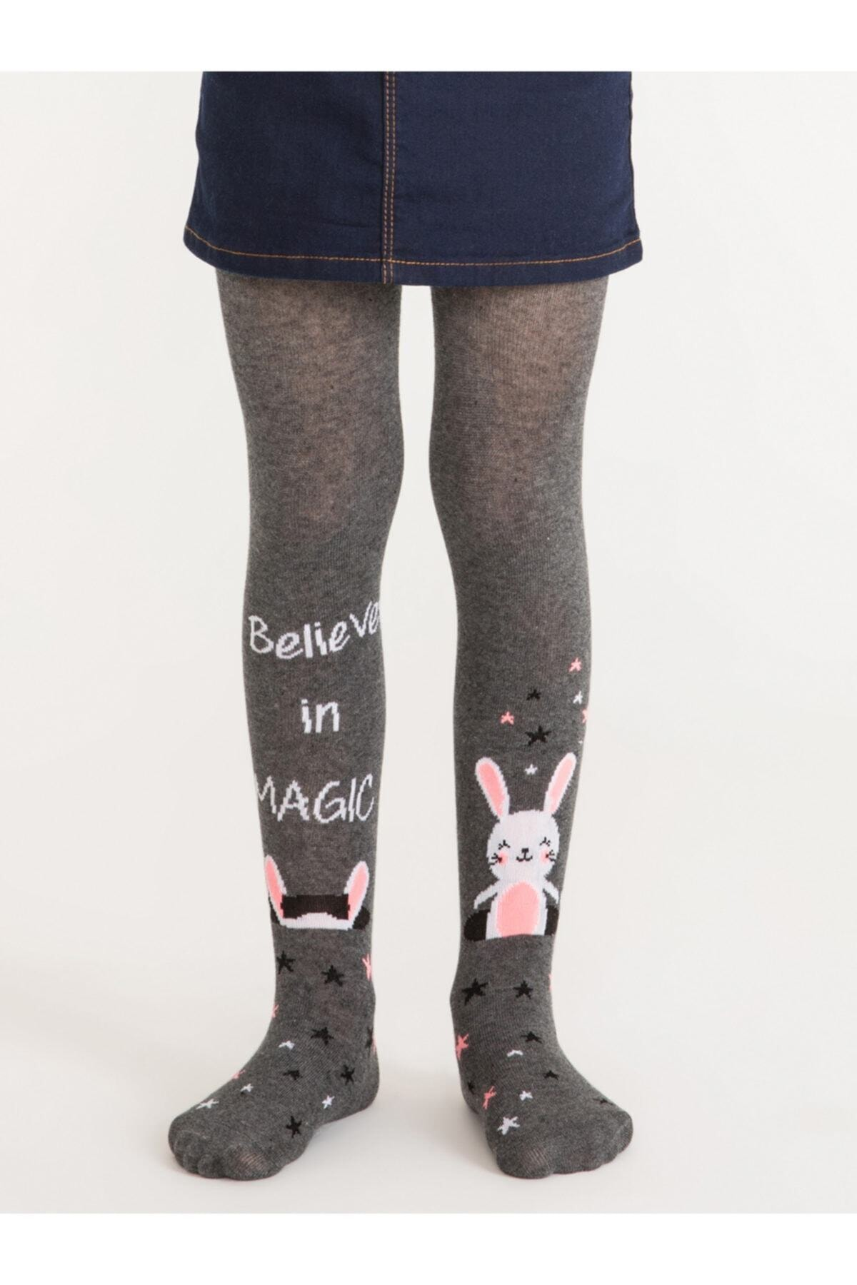 Penti Pretty Magic Bunny Kız Çocuk Külotlu Çorap | Pctpmbug18sk 1