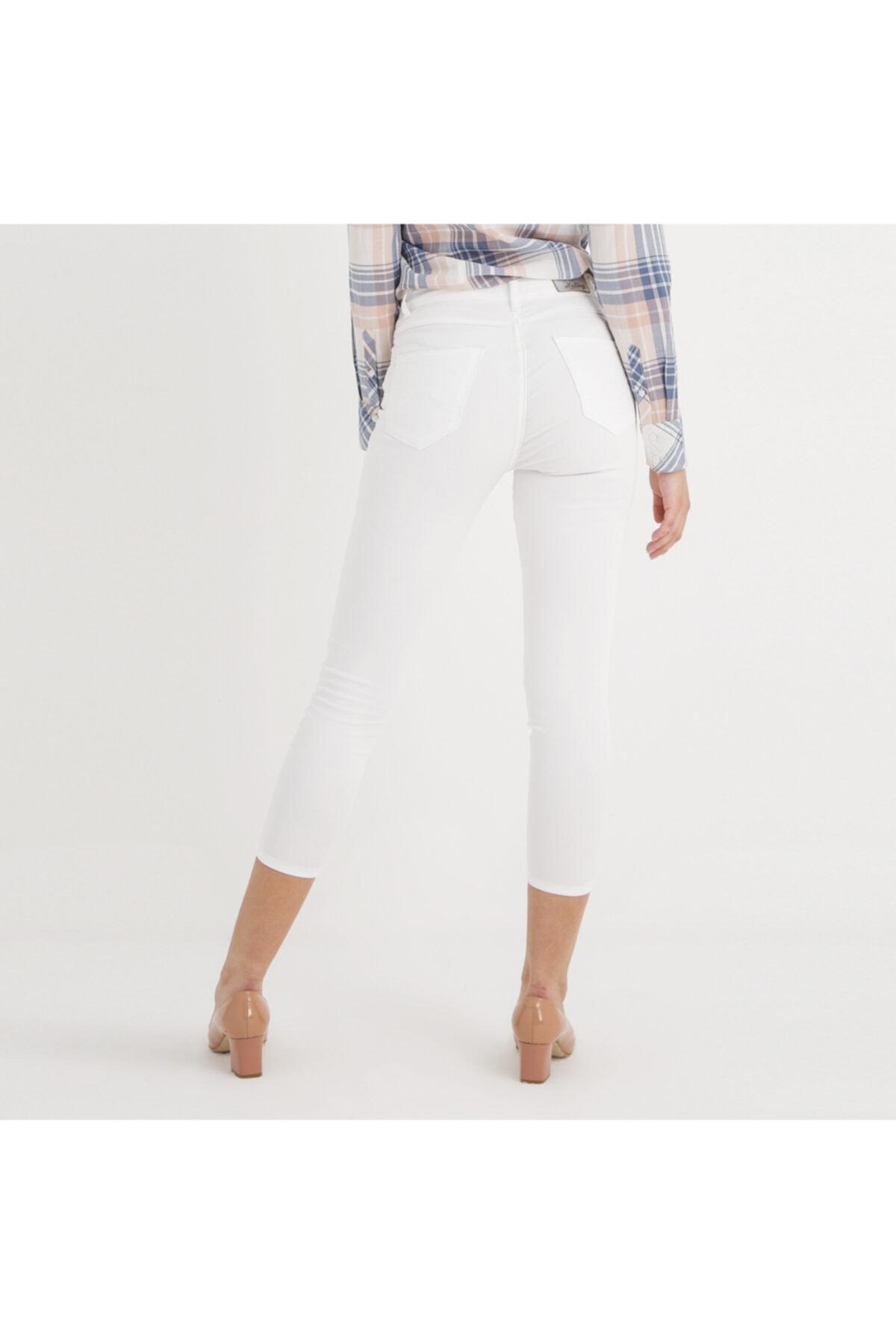 Mustang Perfect Shape Kadın Jean Pantolon Beyaz 2