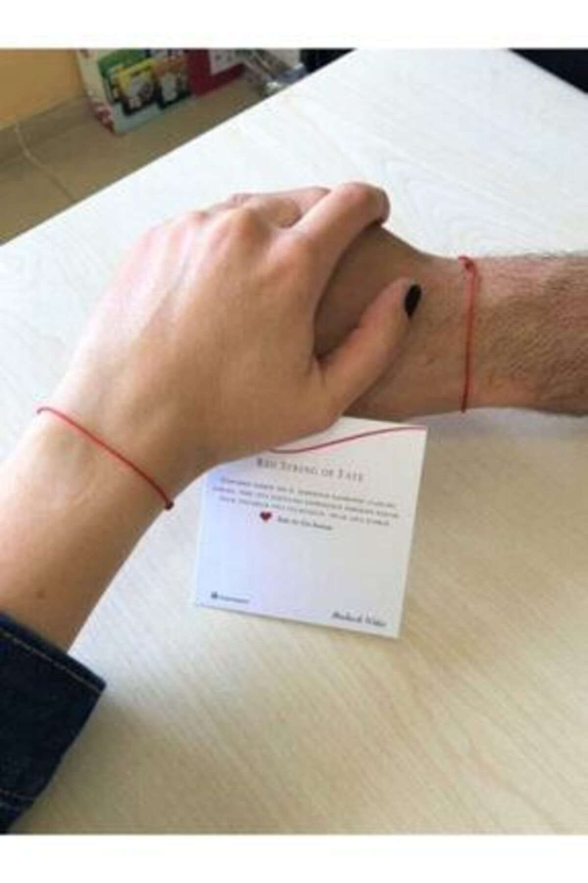 ONEPRETTYWISH Red String Kırmızı Ip Çift Bileklik 1