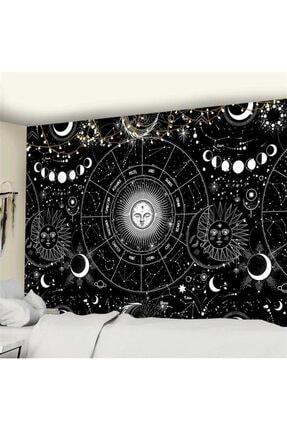 Trendiz Astrology Siyah Duvar Halısı W20021