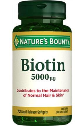 Nature's Bounty Nb Biotin 5000 Mcg 72 Kapsül