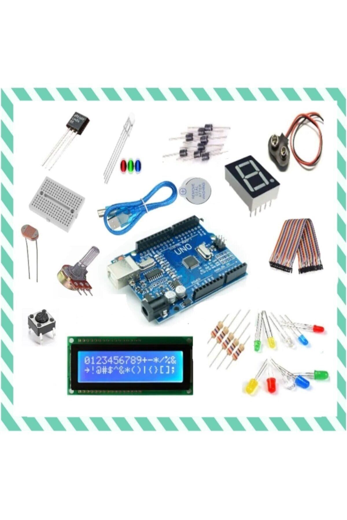 Arduino Uno R3 Başlangıç Seti - 25 Parça 130 Adet Set 1