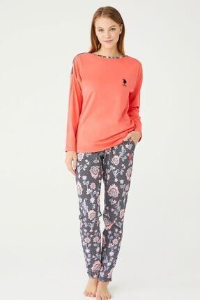 U.S POLO U.s. Polo Assn. Kadın Yuvarlak Yaka Pijama Takımı 16399