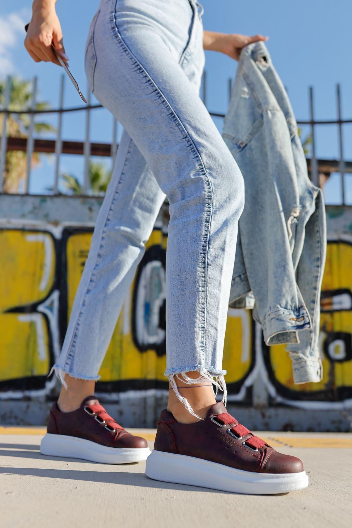 Chekich Ch253 Bt Kadın Ayakkabı Bordo 2