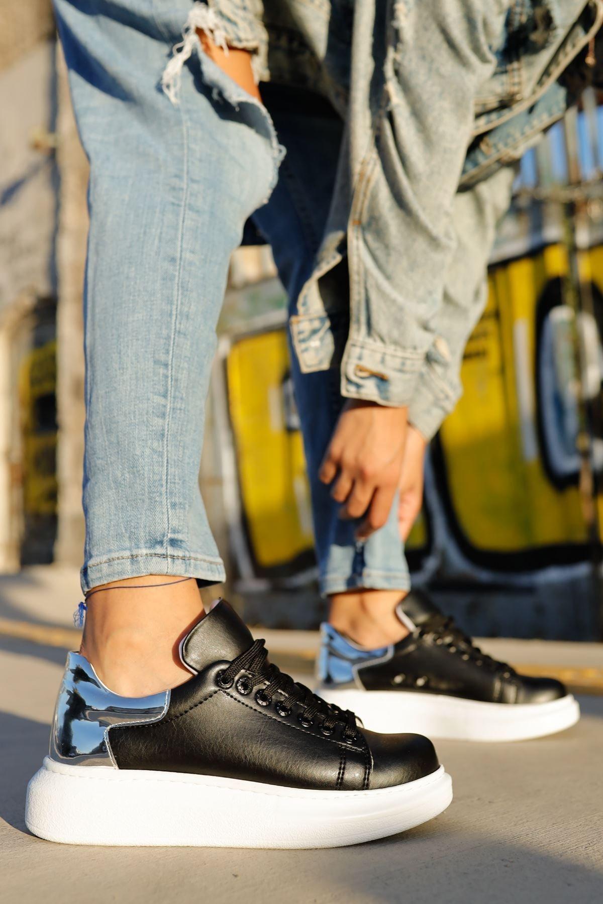 Chekich Ch259 Bt Kadın Ayakkabı Siyah / Gümüs 1