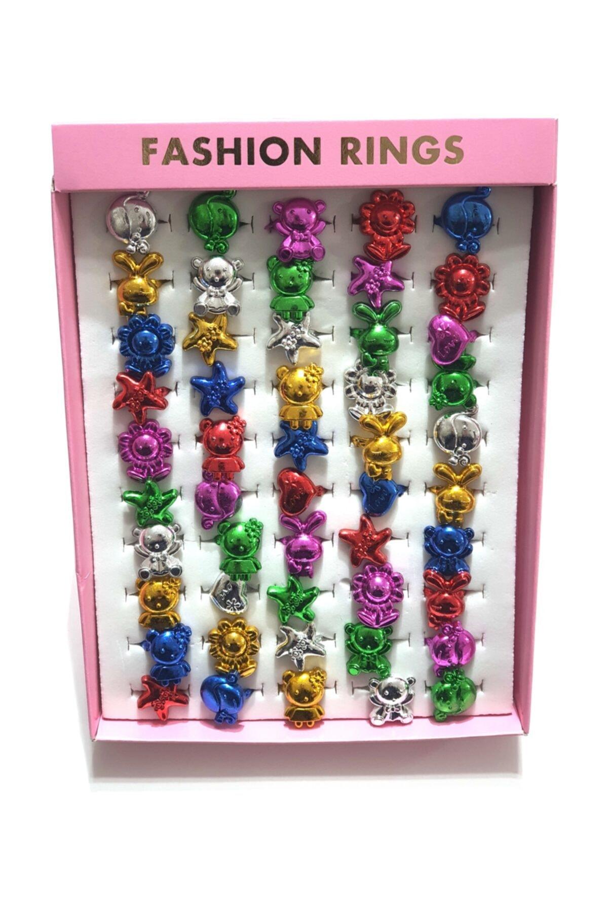 Hicaz Pazarı Çocuk Yüzüğü 50 Li Paket Figürlü 1