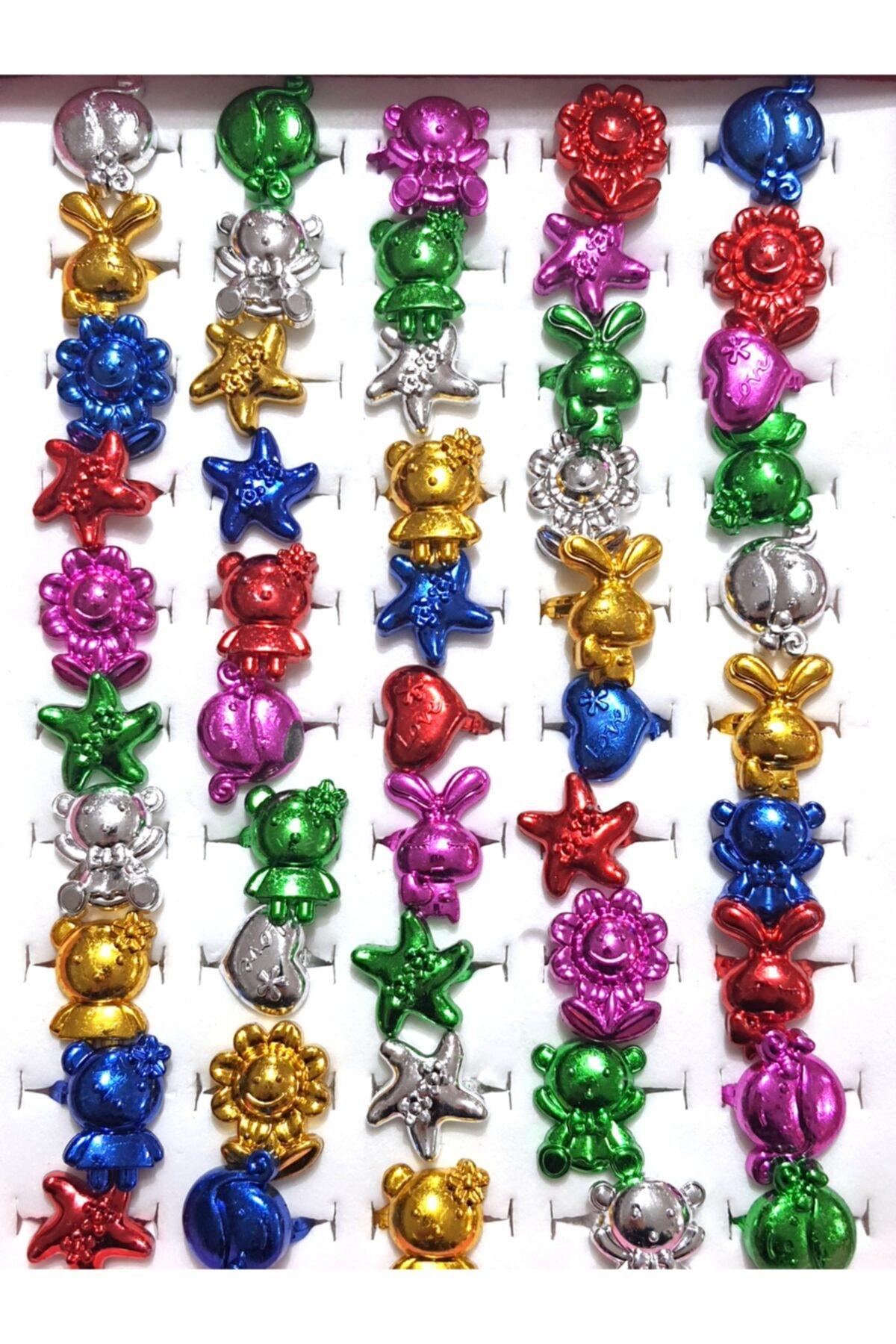Hicaz Pazarı Çocuk Yüzüğü 50 Li Paket Figürlü 2
