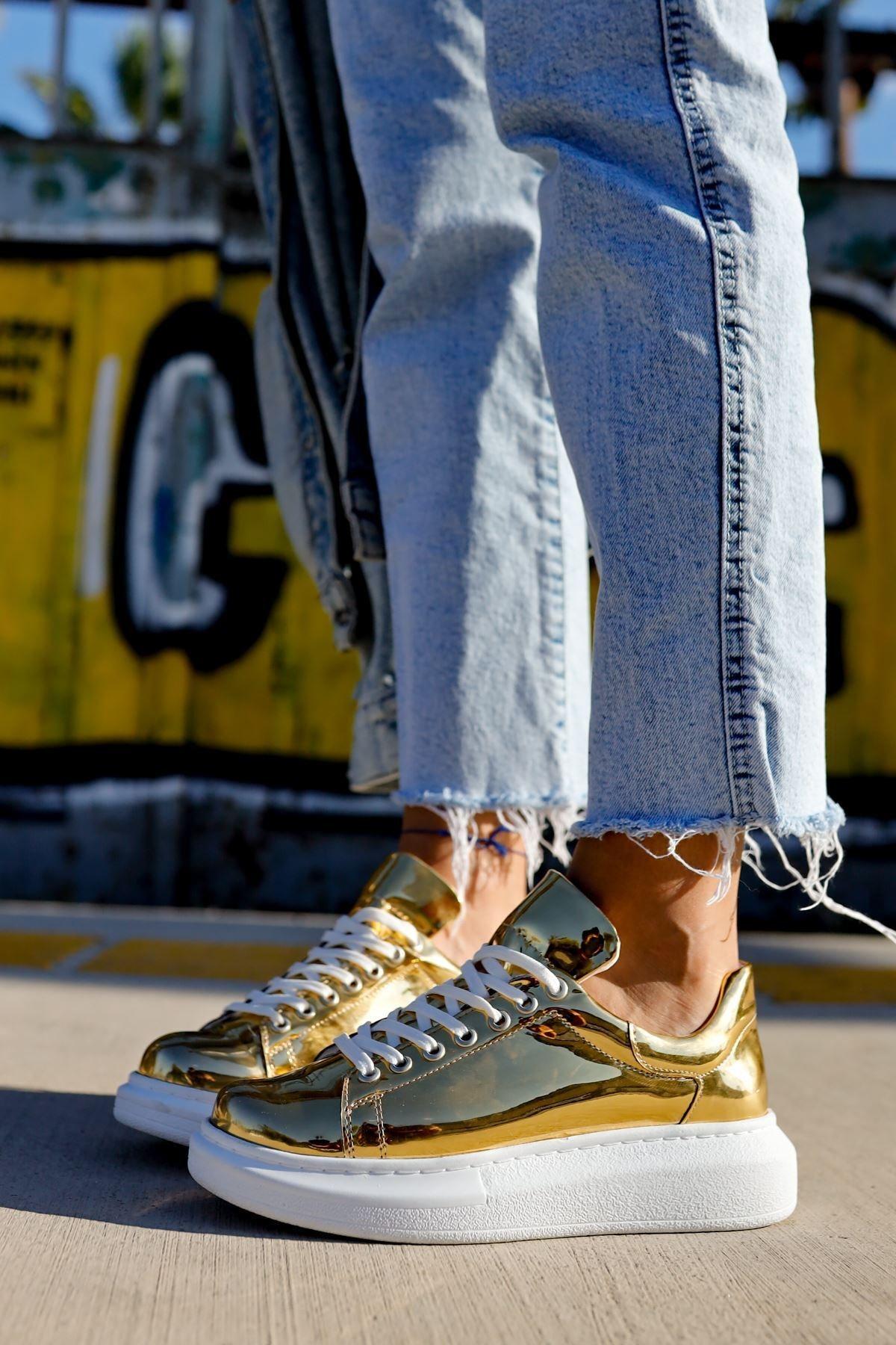 Chekich Ch260 Bt Kadın Ayakkabı Altın 1