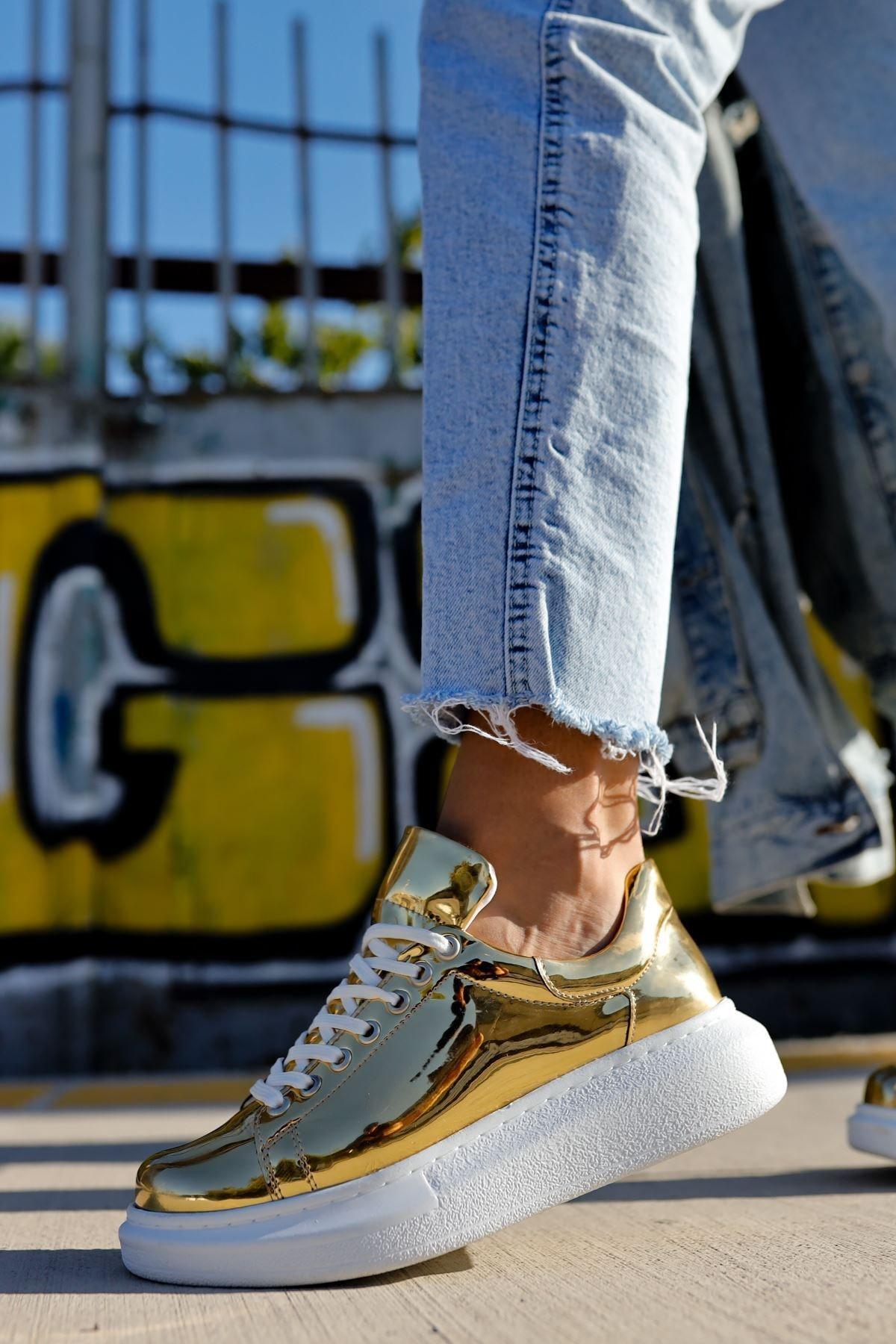 Chekich Ch260 Bt Kadın Ayakkabı Altın 2