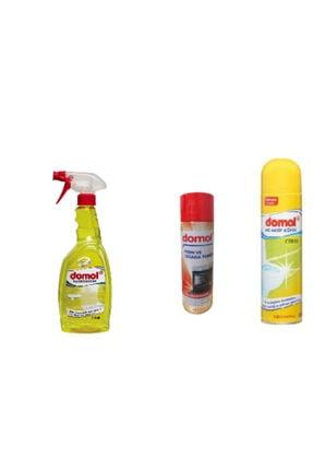 DOMOL Kir Ve Kireç Çözücü 750 ml Sprey+tuvalet Temizleme Köpüğü+fırın Izgara Temizleyici Köpük