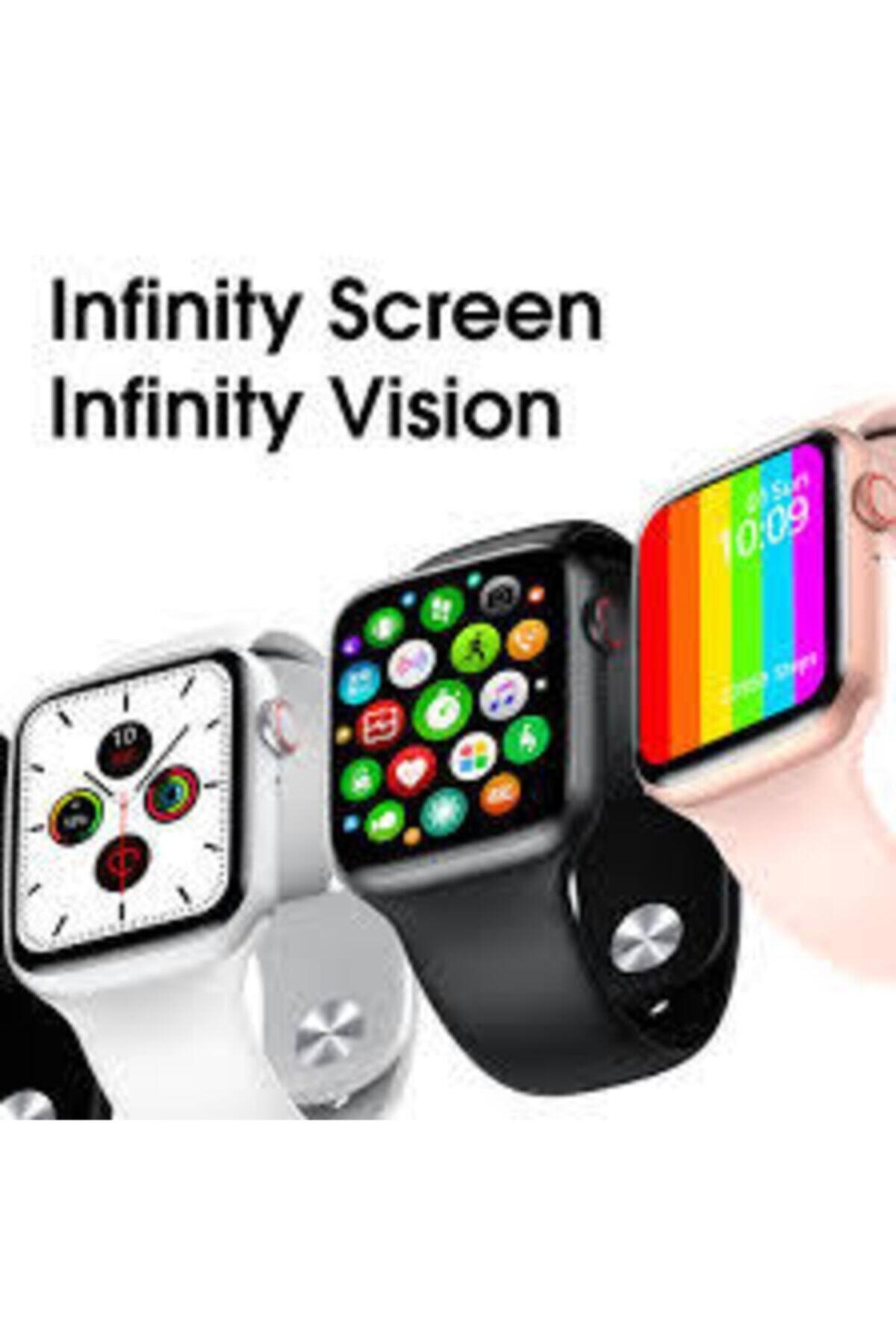 LuffyCase Watch Os 6 Tam Ekran Türkçe Menü Tam Dokunmatik Ios Android Uyumlu Akıllı Saat 2