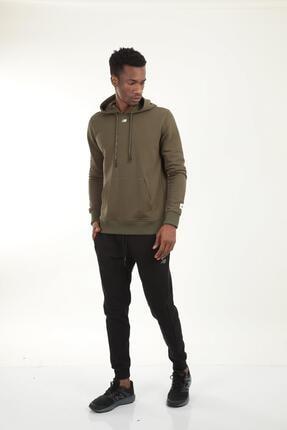 New Balance Erkek Haki Kapüşonlu Sweatshirt Mph023-tpg
